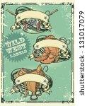 Retro Style Wild West Logos...
