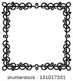 a bubbly abstract black border... | Shutterstock . vector #131017331
