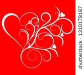 swirled and flourished heart... | Shutterstock .eps vector #1310178187