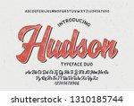 """""""the hudson"""". vintage brush...   Shutterstock .eps vector #1310185744"""