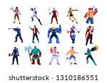 vector set of video games... | Shutterstock .eps vector #1310186551