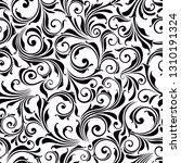 vector seamless black and white ... | Shutterstock .eps vector #1310191324