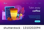 businessmen drinking take away... | Shutterstock .eps vector #1310202094