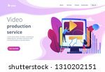 graphic designers at computer... | Shutterstock .eps vector #1310202151