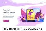 students watching online... | Shutterstock .eps vector #1310202841