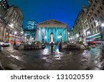 night view of british financial ...   Shutterstock . vector #131020559