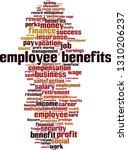 employee benefits word cloud... | Shutterstock .eps vector #1310206237