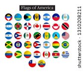 set of world flags round badges.... | Shutterstock .eps vector #1310208211