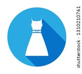 dress icon with long shadow....