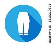 woman trousers icon with long...