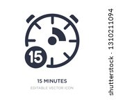 15 minutes icon on white... | Shutterstock .eps vector #1310211094