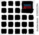 set of grunge vector shapes.... | Shutterstock .eps vector #131021294