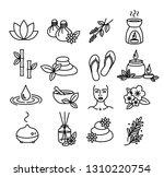 beautiful set of spa  wellness... | Shutterstock .eps vector #1310220754