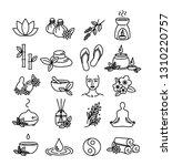 beautiful set of spa  wellness... | Shutterstock .eps vector #1310220757