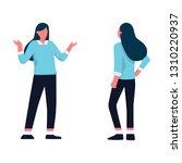 clueless young business woman... | Shutterstock .eps vector #1310220937