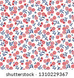 vintage floral background.... | Shutterstock .eps vector #1310229367
