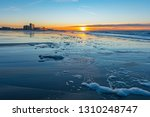 sunset along the north sea... | Shutterstock . vector #1310248747