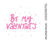 be my valentina's lettering.... | Shutterstock .eps vector #1310250751
