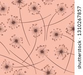cute dandelion blowing vector... | Shutterstock .eps vector #1310267857