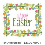 vector illustration of easter... | Shutterstock .eps vector #1310270977