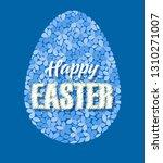 vector illustration of easter... | Shutterstock .eps vector #1310271007