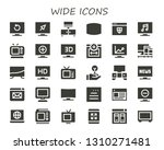 wide icon set. 30 filled wide... | Shutterstock .eps vector #1310271481