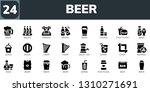 beer icon set. 24 filled beer... | Shutterstock .eps vector #1310271691