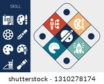 skill icon set. 13 filled skill ... | Shutterstock .eps vector #1310278174