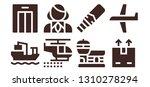 passenger icon set. 8 filled... | Shutterstock .eps vector #1310278294