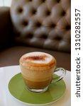 cup of fluffy milk foam hot... | Shutterstock . vector #1310282557