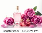 roses  pink perfume essence in...   Shutterstock . vector #1310291194