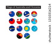set of world flags round badges.... | Shutterstock .eps vector #1310316214