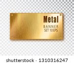 metal gold banners realistic.... | Shutterstock .eps vector #1310316247