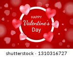 happy valentine's day lettering ... | Shutterstock .eps vector #1310316727