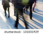 pedestrians go towards the... | Shutterstock . vector #131031929