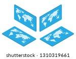 isometric world map earth... | Shutterstock .eps vector #1310319661