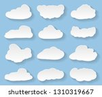 cartoon clouds on blue... | Shutterstock .eps vector #1310319667