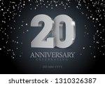anniversary 20. silver 3d... | Shutterstock .eps vector #1310326387