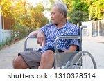 senior man on wheelchair in...   Shutterstock . vector #1310328514