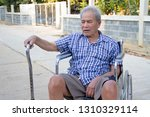 senior man on wheelchair   Shutterstock . vector #1310329114