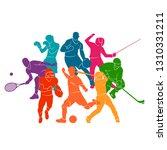 color sport background.... | Shutterstock .eps vector #1310331211