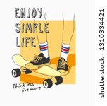 enjoy simple life slogan with... | Shutterstock .eps vector #1310334421