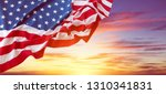 american flag in the sky | Shutterstock . vector #1310341831