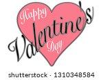 vintage 50's style valentine...   Shutterstock . vector #1310348584