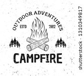 camping fire vector vintage... | Shutterstock .eps vector #1310349817