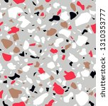 terrazzo seamless pattern.... | Shutterstock .eps vector #1310353777