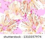 bold flower pattern. big hawaii ... | Shutterstock . vector #1310357974