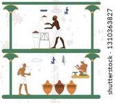 ancient egypt background.... | Shutterstock .eps vector #1310363827
