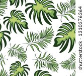 seamless pattern of a tropical... | Shutterstock .eps vector #1310376364