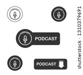 podcast icon  vector for... | Shutterstock .eps vector #1310379691